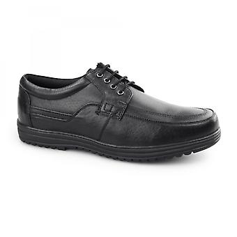 Dr Keller Jeffrey Mens Leather Lace Up Shoes Black