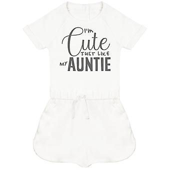 I'm Cute Just Like My Auntie Baby Playsuit