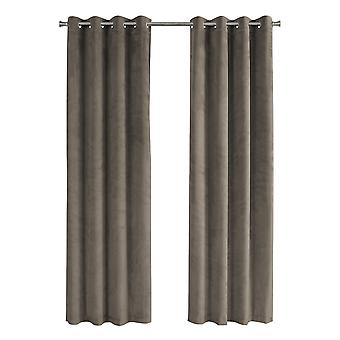 "52"" x 84"" Taupe, Room Darkening - Curtain Panel 2pcs"