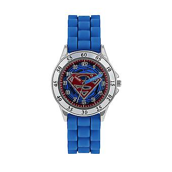 Children's Superman Logo Blue Analogue Watch
