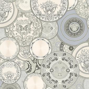 Versace Les Etoiles De la Mer Teller Tapete - Silber 34901-3 - 10m x 70cm