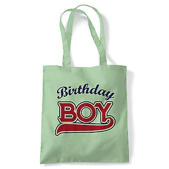 Bursdag gutt tote | Happy Birthday feiring Party får eldre | Gjenbrukbare shopping Cotton Canvas Long håndtert Natural shopper miljøvennlig mote