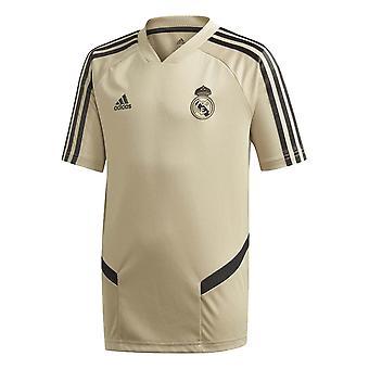 2019-2020 Real Madrid Adidas Training Shirt (Gold) - Kids
