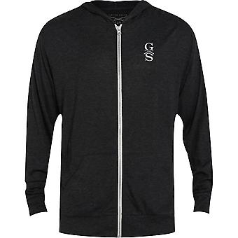 Grunt Style Basic Lightweight Tri-Blend Full Zip Hoodie - Black Heather