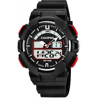 Calypso klocka klockor K5772-4 - klocka silikon svart man