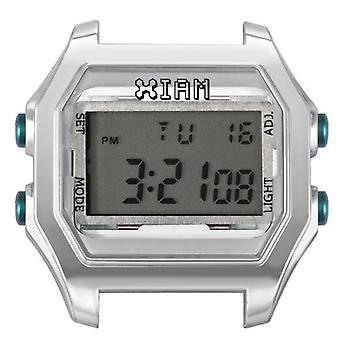 Watch I Am The Watch IAM-119 - Bo tier Aspect M tal Silver Duck Green Buttons / Horn 20 mm Set