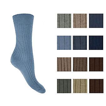 Mens frisk føler bomull løs bred topp komfort sokker størrelse 6-11 mote 3 PK