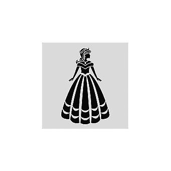 Estrela do bolo - princesa Stencil