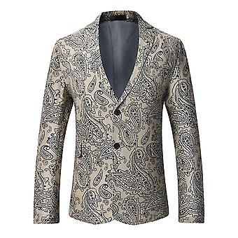 Allthemen Men's Paisley Print Suit Jacket Formal Party Banquet Dress Suit Jacket