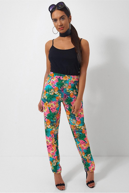 Santorini Tropical Print Trousers