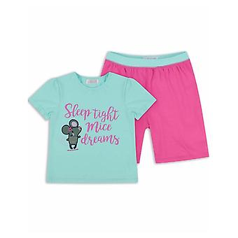 The Essential One Girls Ellie Mouse 'mice Dreams' Shorts Pyjamas