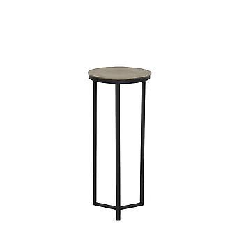 lys & levende side bord søyle 35x80cm Retiro svart og rå vintage bronse