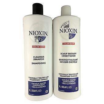 Nioxin järjestelmä 6 puhdistus aineet ja päänahan hiusten hoito Duo 33,8 oz kukin