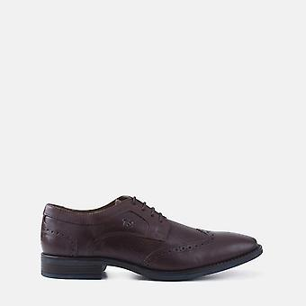 Regola brown leather brogue