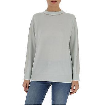 Fabiana Filippi Mad260w141a5128143 Women's Grey Wool Sweater