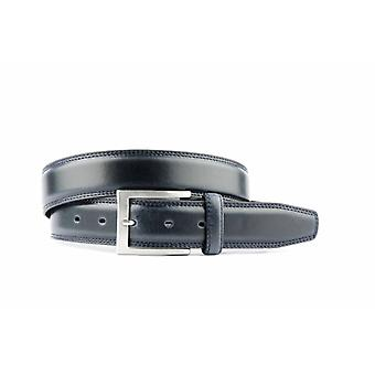Blue Leather Men's Belt