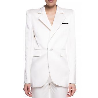 Saint Laurent 592390y855v9001 Damen's Weiße Seide Blazer