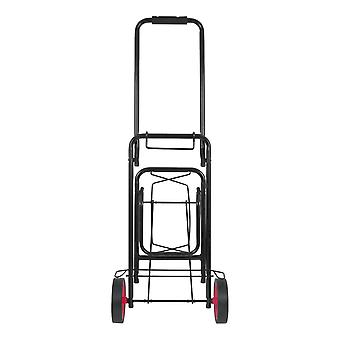 Meilenstein Faltbare Heavy Duty Camping Kit Trolley Schwarz 50Kg