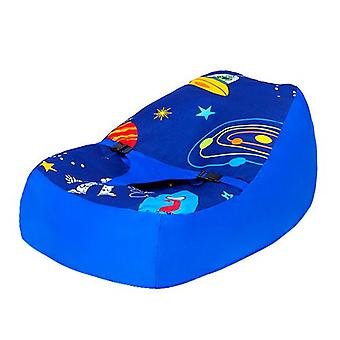 Ready Steady Bed� | Cotton Fabric | Space Boy Design | Baby Lounger | Bean Bag | Safety Harness | Suitable from Birth