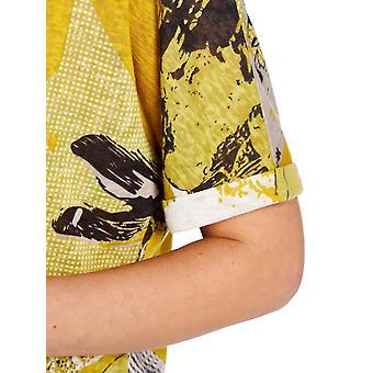 VIZ-A-VIZ Lime All Over Print Top