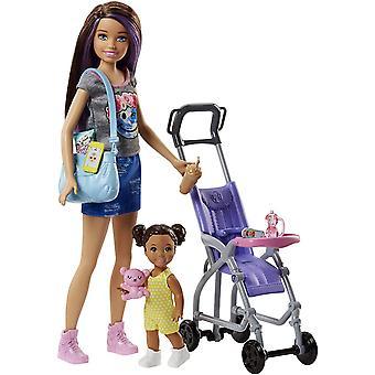 Barbie Skipper Babysitters INC Doll Barnvakt Docka, Bebis Och Tillbehör