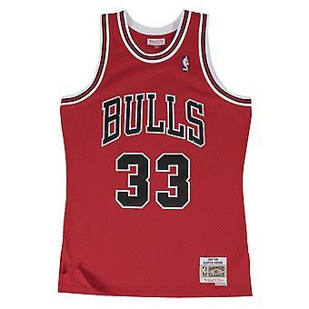 Mitchell & Ness Scottie Pippen Nba Chicago Bulls CBUSCAR97SPI koripallo kesä miesten t-paita