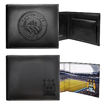 Manchester City Mens Wallet Leather Embossed Crest OFFICIAL Football Gift