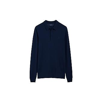 Gant 01.american Cotton Long Sleeve Rugger Persian Blue