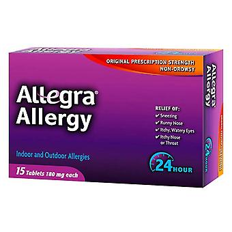 Allegra 24hr allergy relief, 180 mg, compresse, che ea 15