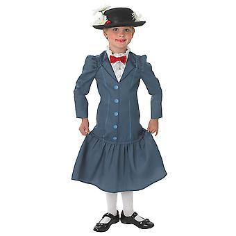 Mary Poppins Girls Fancy Dress Costume