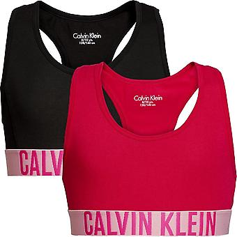 Calvin Klein Girls 2 Pack Intense Power Bralette - Black/Bright Rose