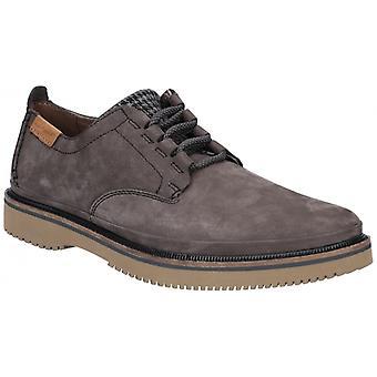 Hush Puppies Bernard Convertible Oxford Mens Suede Shoes Off Black