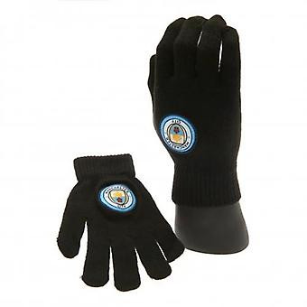 Manchester City Knitted Gloves Junior