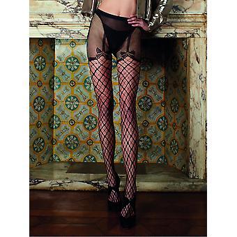 Trasparenze Merlot Fishnet Strip Panty Tights