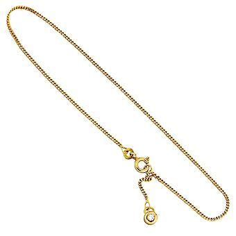 هاحل الكاحل القصدير 333 الذهب الذهب الأصفر 2 مكعب الزركونيا 25 سم حلقة ريشة
