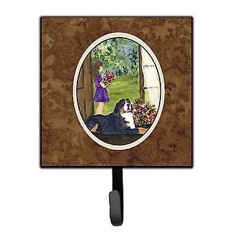 Little Girl with her Bernese Mountain Dog Leash Holder or Key Hook
