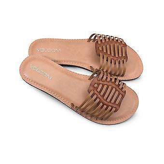 Volcom Porto faux lederen sandalen in Tan