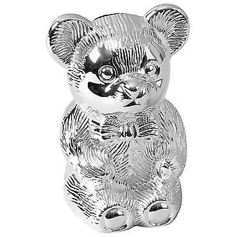 Orton West Teddy Bear Money Box - Silver
