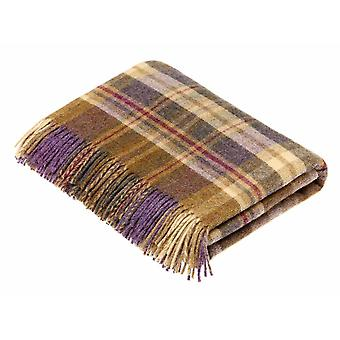 Wool throw glen Coe heather