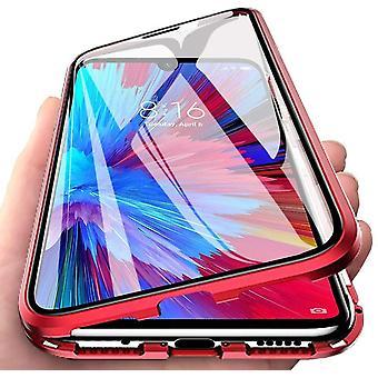 Carcasa móvil vidrio templado de doble cara XiaoMi Redmi Note7/7Pro - Rojo