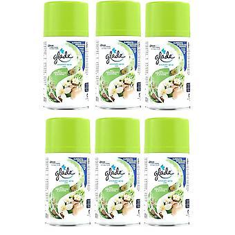 6 X Glade Automatic Spray Refill 269Ml -Bali Sandalwood & Jasmine