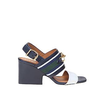 Tory Burch 73461400 Women's Blue Leather Sandals