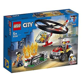 Playset City Fire Response Helicopter Lego 60248