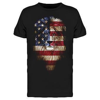 Lion, American Flag Tee Men's -Image door Shutterstock
