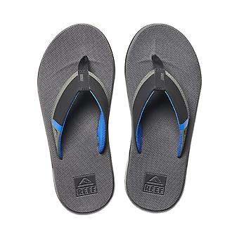 Reef Mens Sandals With Bottle Opener ~ Fanning Low grey blue