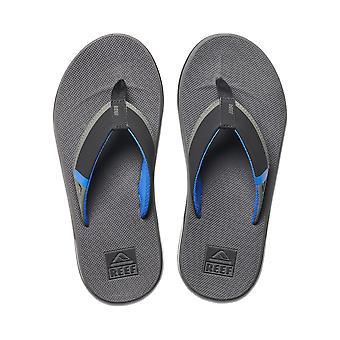 Reef Mens Sandaler med flasköppnare ~ Fanning Låg grå blå