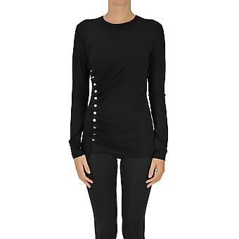 Paco Rabanne Ezgl246009 Women's Black Viscose Sweater