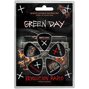 Green Day guitarra pick plectrum Pack X 5 revolução rádio novo oficial preto
