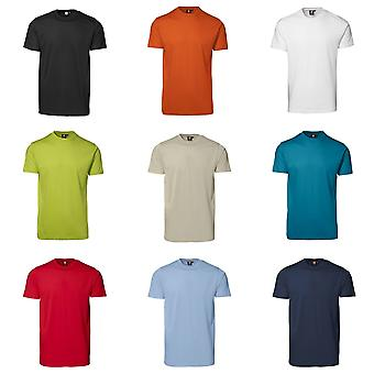 ID Unisex Yes Short Sleeve Fitted Plain Cotton T-Shirt