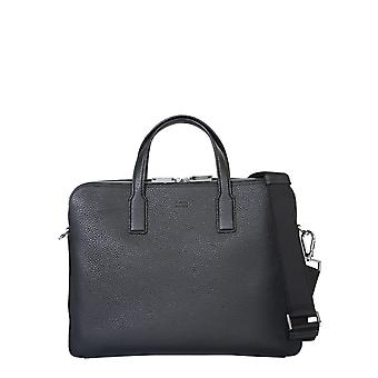 Boss 50397344102294001 Men's Black Leather Briefcase